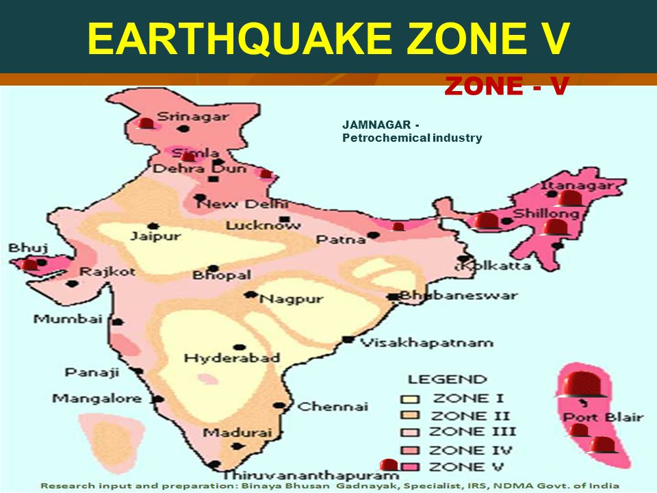 ZONE - V EARTHQUAKE ZONE V JAMNAGAR - Petrochemical industry