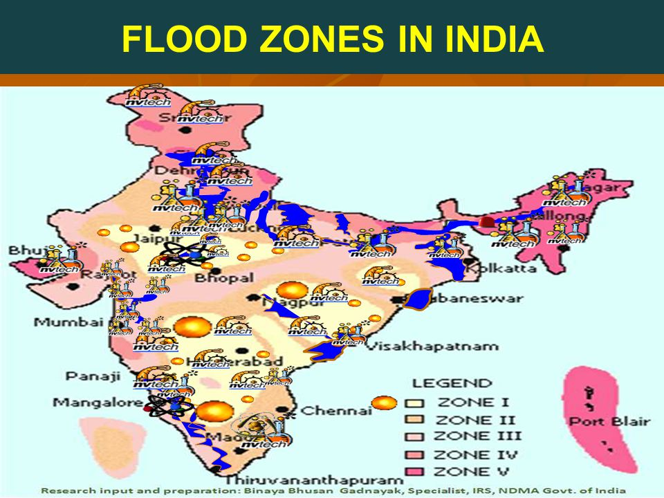FLOOD ZONES IN INDIA