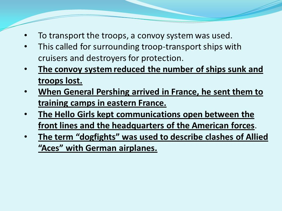 To transport the troops, a convoy system was used.