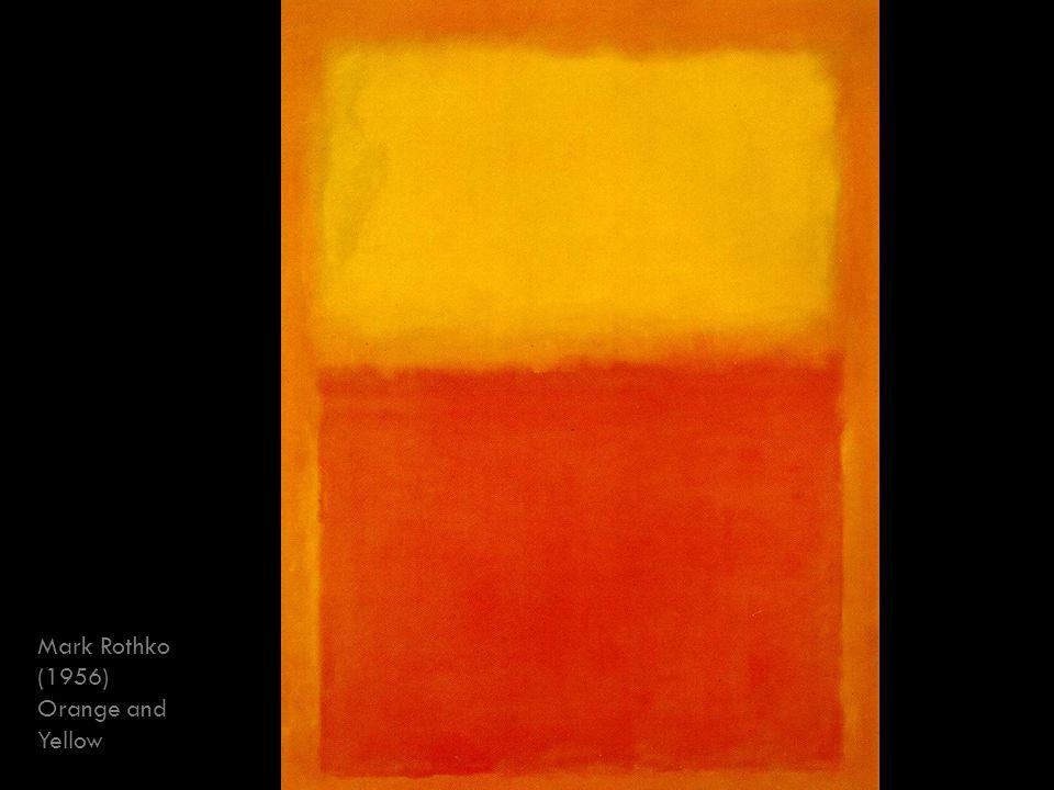 Mark Rothko (1956) Orange and Yellow