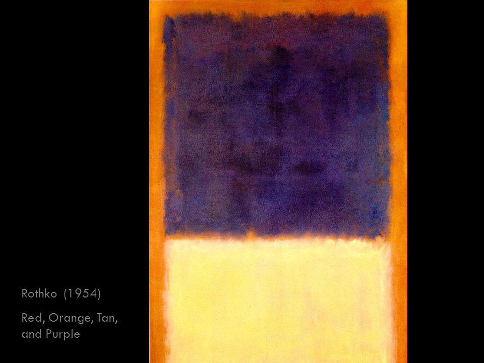 Rothko (1954) Red, Orange, Tan, and Purple