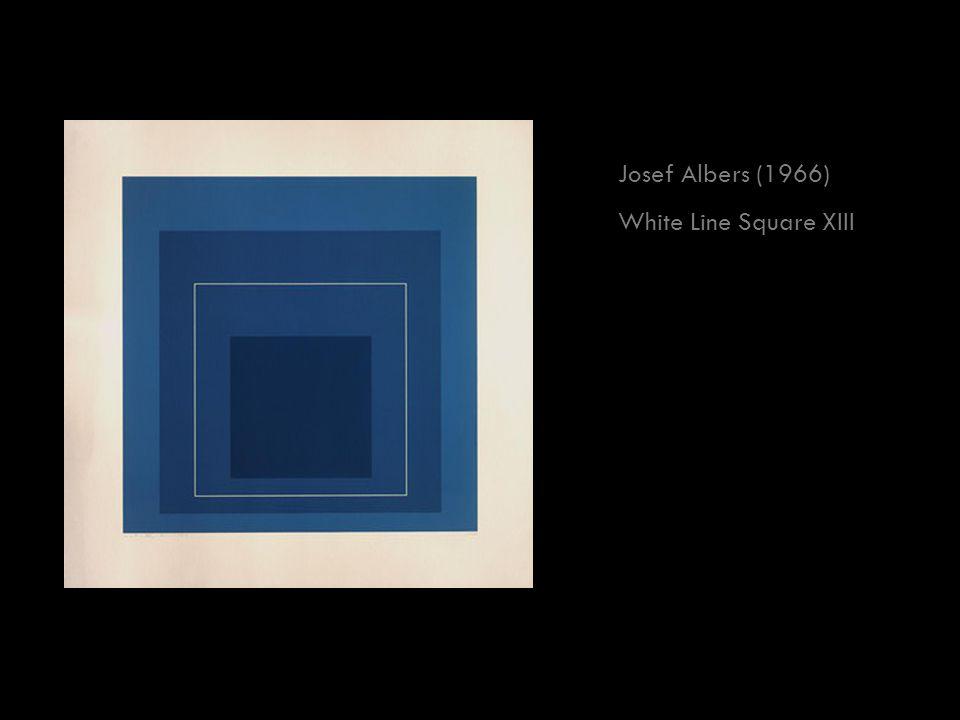 Josef Albers (1966) White Line Square XIII