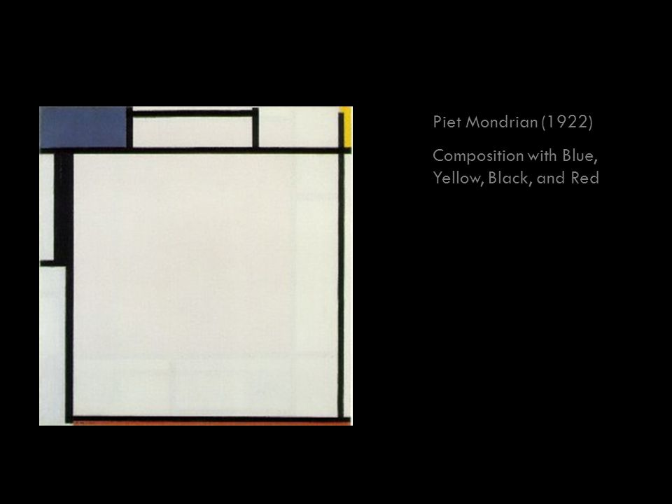 Piet Mondrian (1922) Composition with Blue, Yellow, Black, and Red