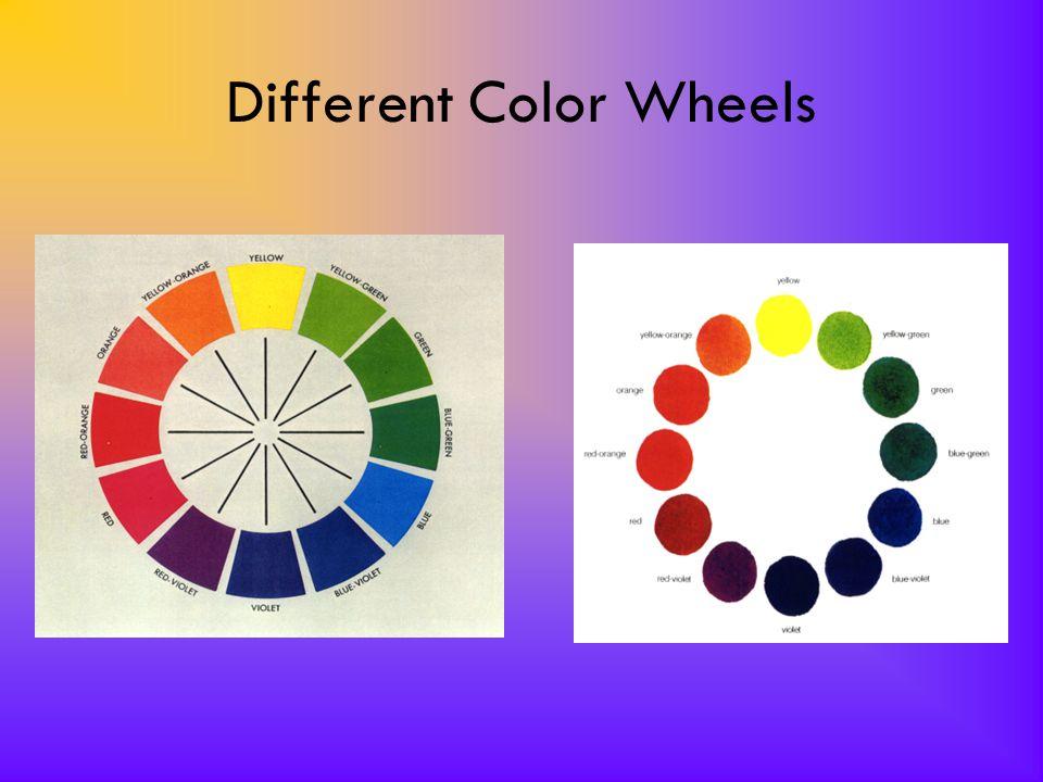 Different Color Wheels Color wheel 1