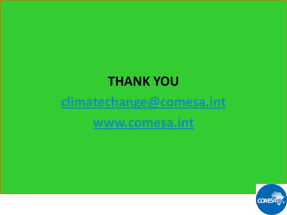 13 THANK YOU climatechange@comesa.int www.comesa.int