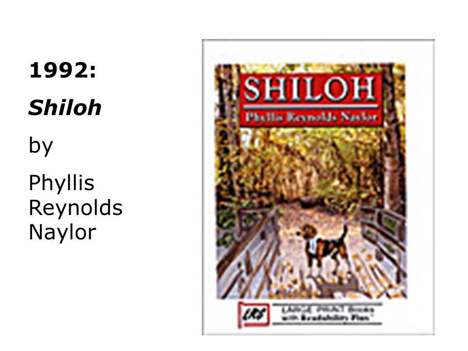 1992: Shiloh by Phyllis Reynolds Naylor
