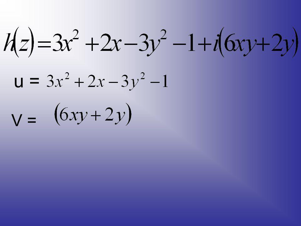 u = V =