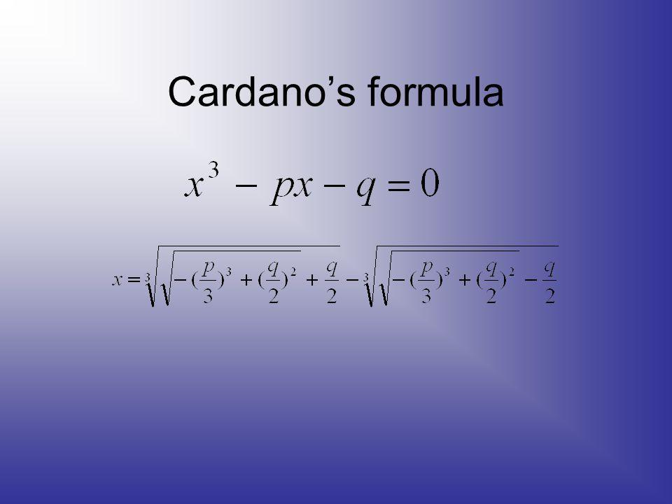 Cardano's formula