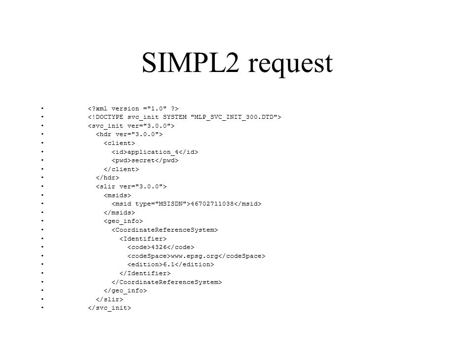 SIMPL2 and MLP SIMPL2 developed by Cellpoint as an MLP compatible protocol –Removed some features Zoning, triggering Still had to signal that features