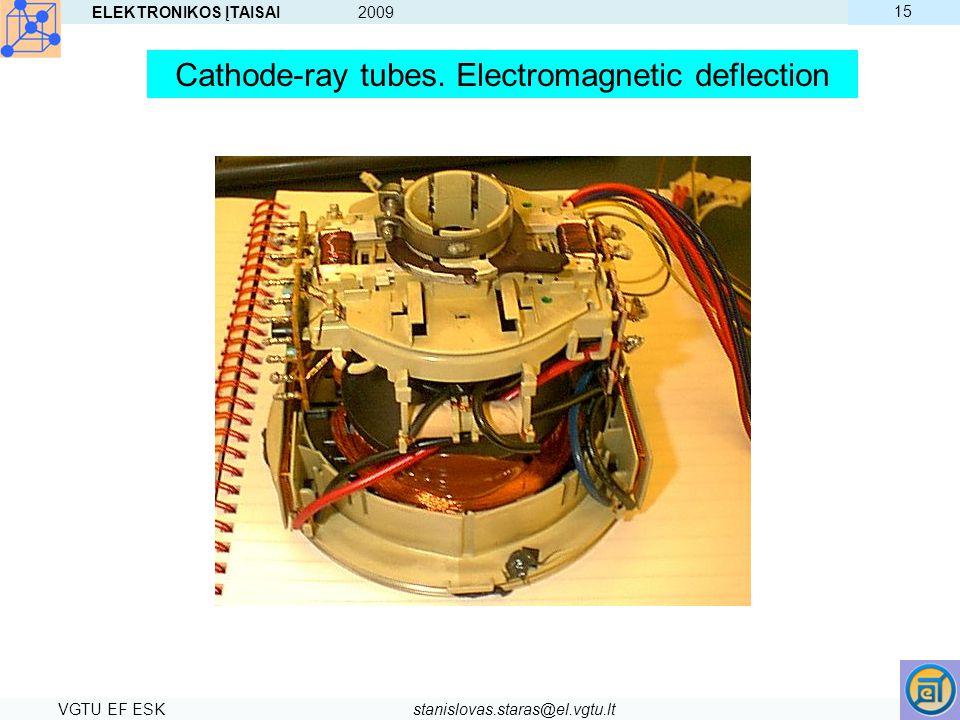 ELEKTRONIKOS ĮTAISAI 2009 VGTU EF ESKstanislovas.staras@el.vgtu.lt 15 Cathode-ray tubes. Electromagnetic deflection