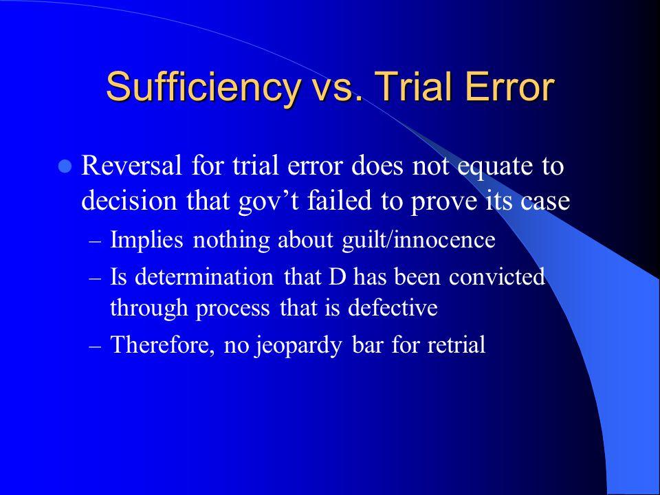 Sufficiency vs.