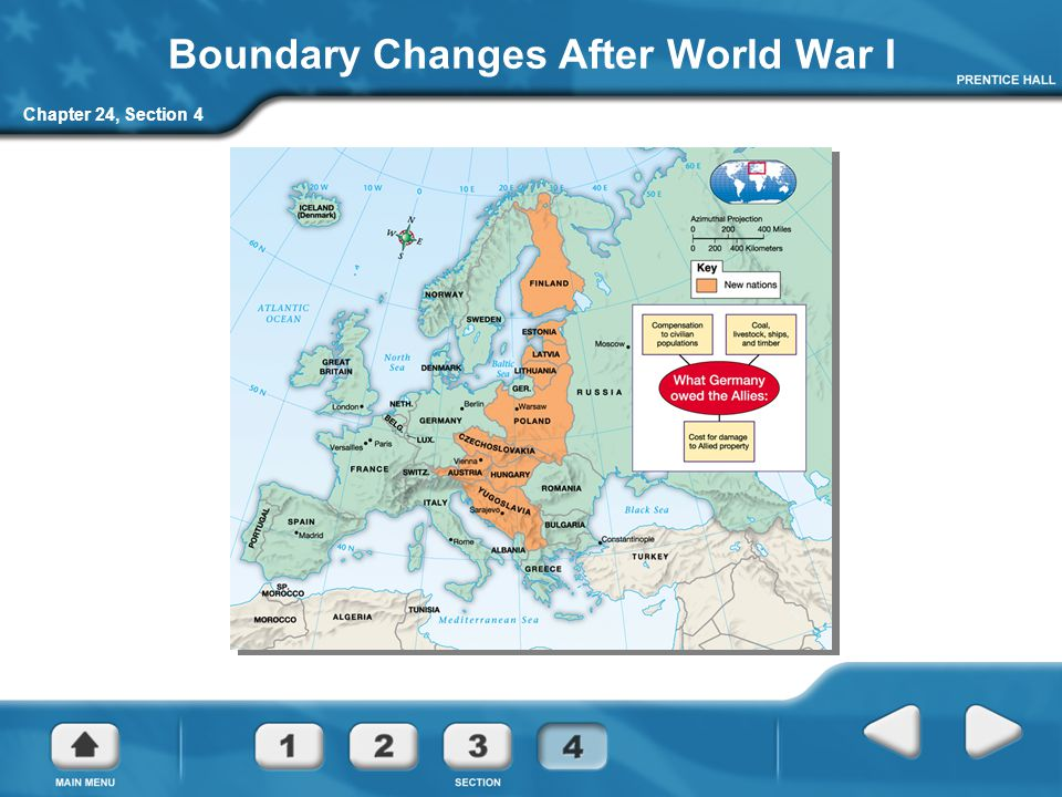 Chapter 24, Section 4 Boundary Changes After World War I