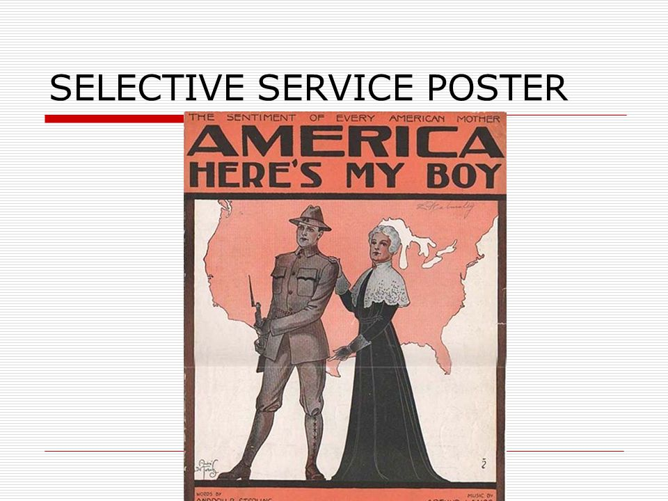SELECTIVE SERVICE POSTER