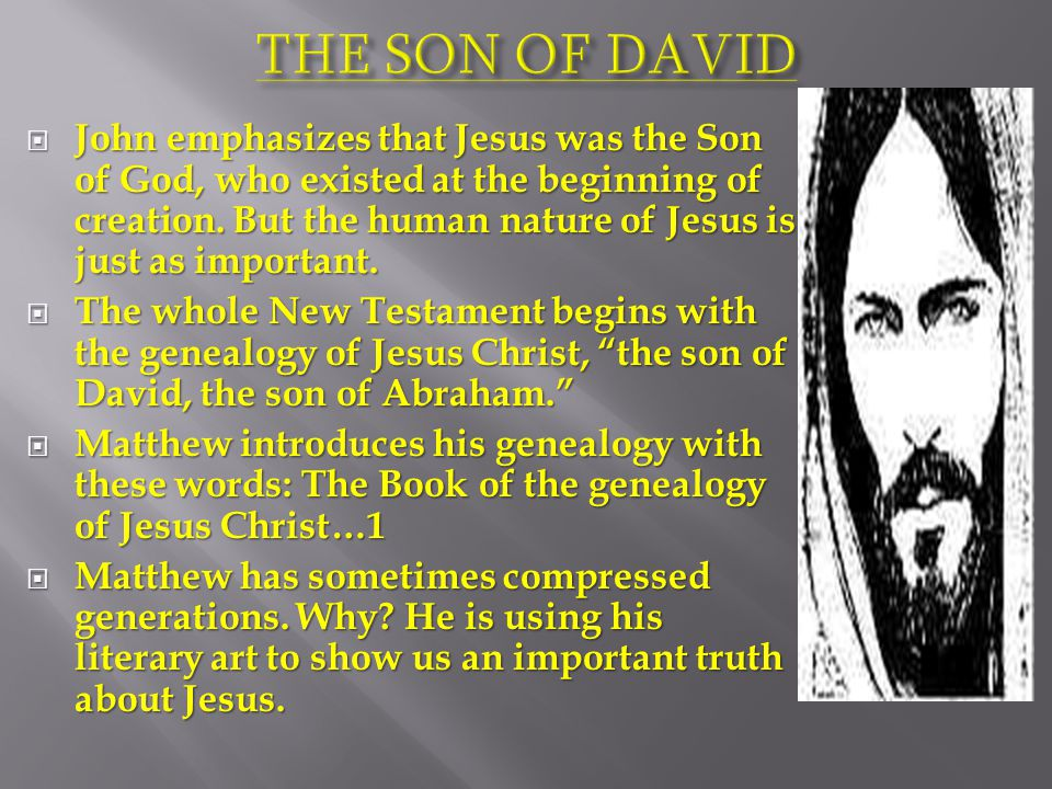 John emphasizes that Jesus was the Son of God, who existed at the beginning of creation.