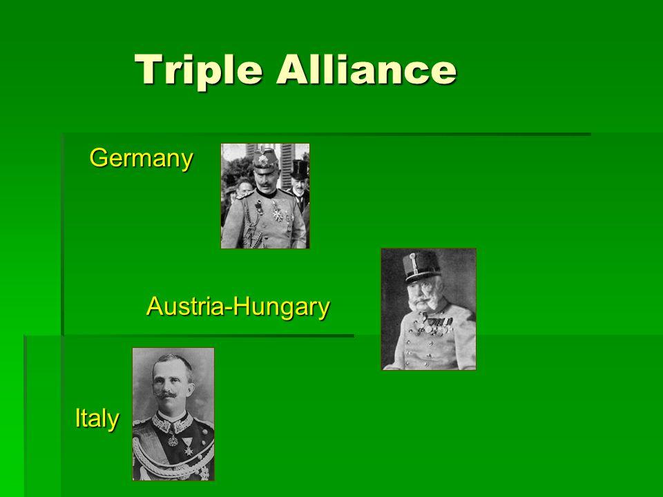 Triple Alliance Triple Alliance Germany Germany Austria-Hungary Austria-Hungary Italy Italy