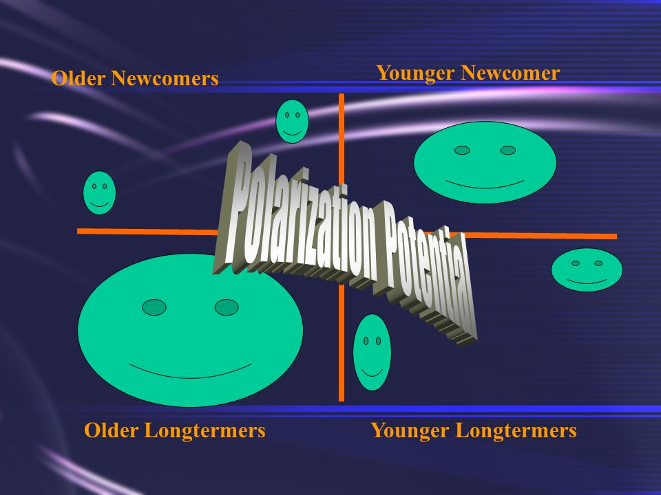Older Newcomers Younger Newcomer Older LongtermersYounger Longtermers