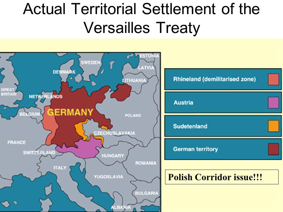 Actual Territorial Settlement of the Versailles Treaty Polish Corridor issue!!!