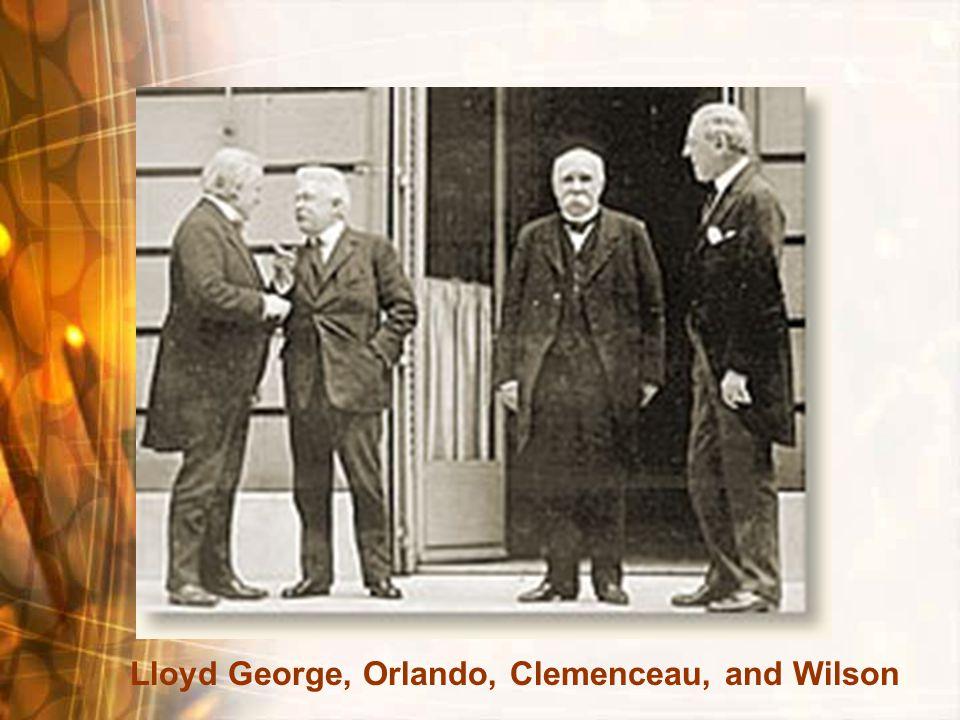 Lloyd George, Orlando, Clemenceau, and Wilson