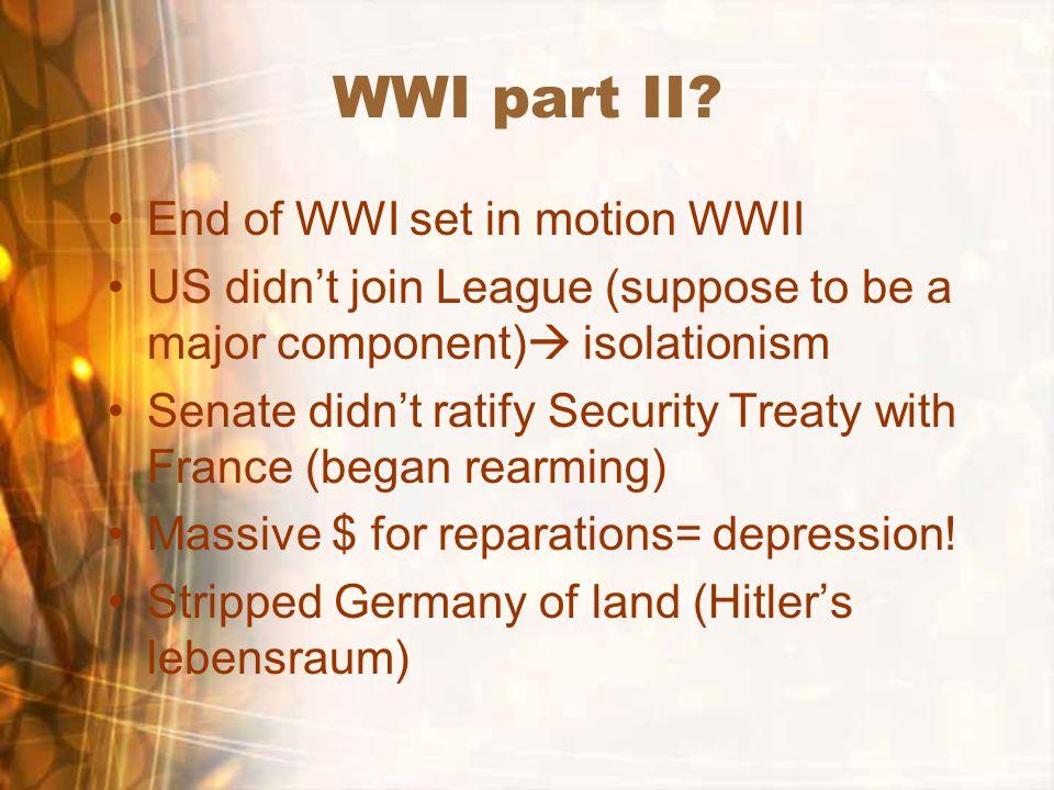 WWI part II.