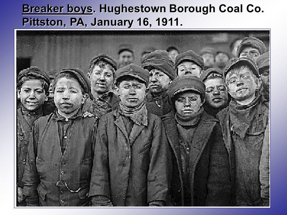 Breaker boys. Hughestown Borough Coal Co. Pittston, PA, January 16, 1911.