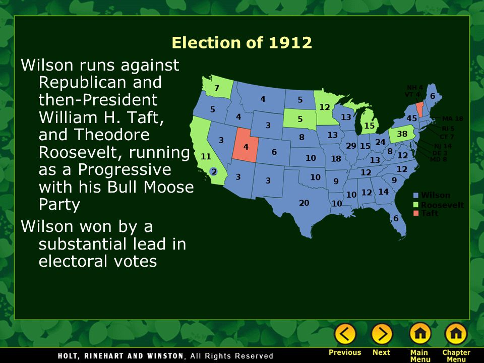 Political Standings Wilson saw the United States constitution as a weighty, out-dated way of governing Influenced by the writings of the English Walter Bagehot, Wilson supported the organization of a parliamentary system for the US Wilson's views would later return to a simple Democratic standard, working toward limited government power, but with a party-independent mindset.