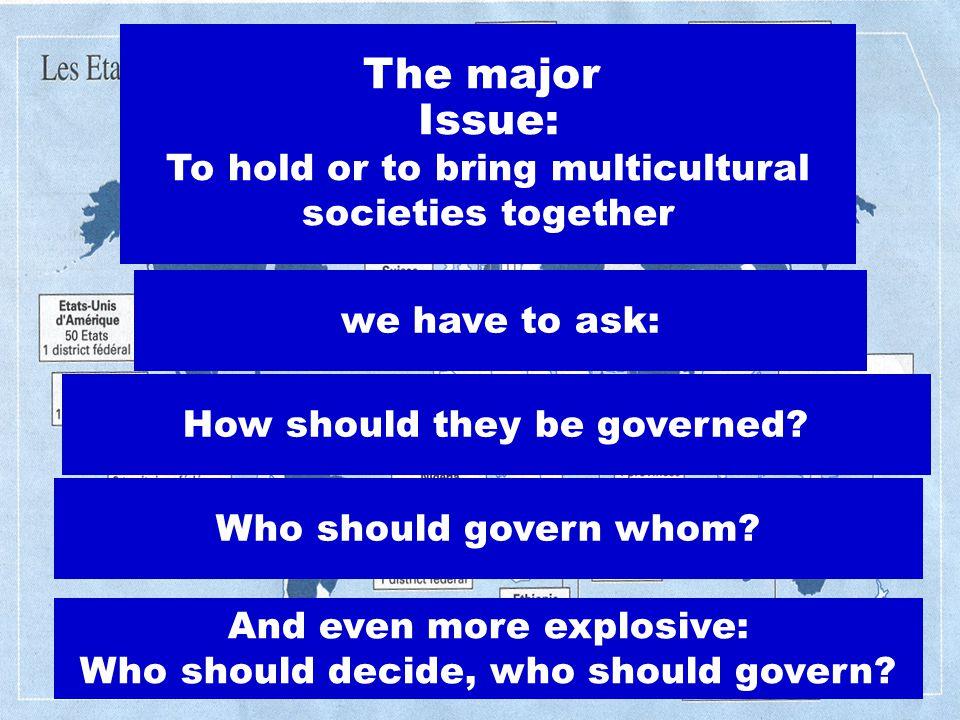 Fourteen Principles For a Multicultural State Thomas Fleiner Belgrade April 6