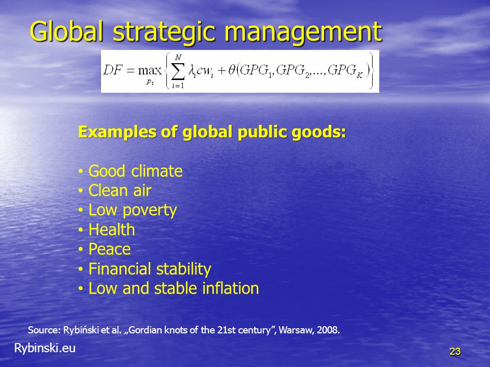 Rybinski.eu Global strategic management 23 Source: Rybiński et al.