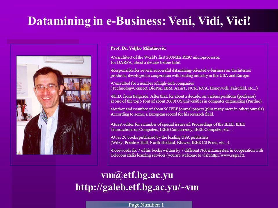 Page Number: 1 vm@etf.bg.ac.yu http://galeb.etf.bg.ac.yu/~vm Prof.