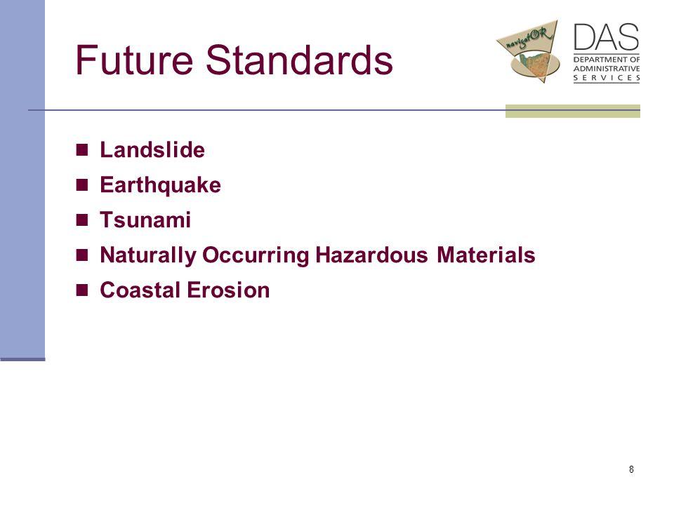8 Future Standards Landslide Earthquake Tsunami Naturally Occurring Hazardous Materials Coastal Erosion