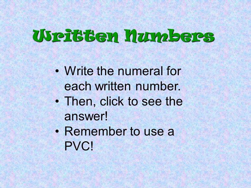 2 Fourteen thousand seventy-six Written Numbers 1407 6