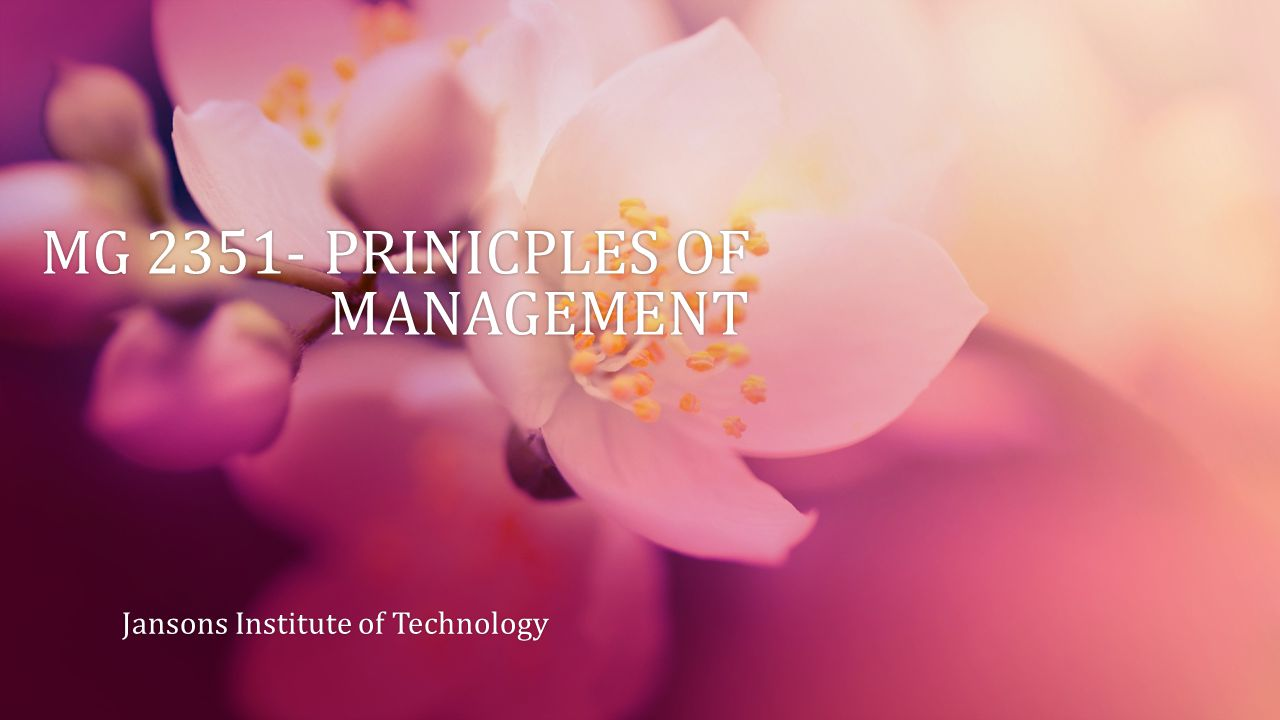 UNIT 1 OVERVIEW OF MANAGEMENT Definition of Organization Definition of Management Management and Administration Role of Managers Evolution of Management Thought Organization and the environmental Factors Managing Globally Strategies for International Business.