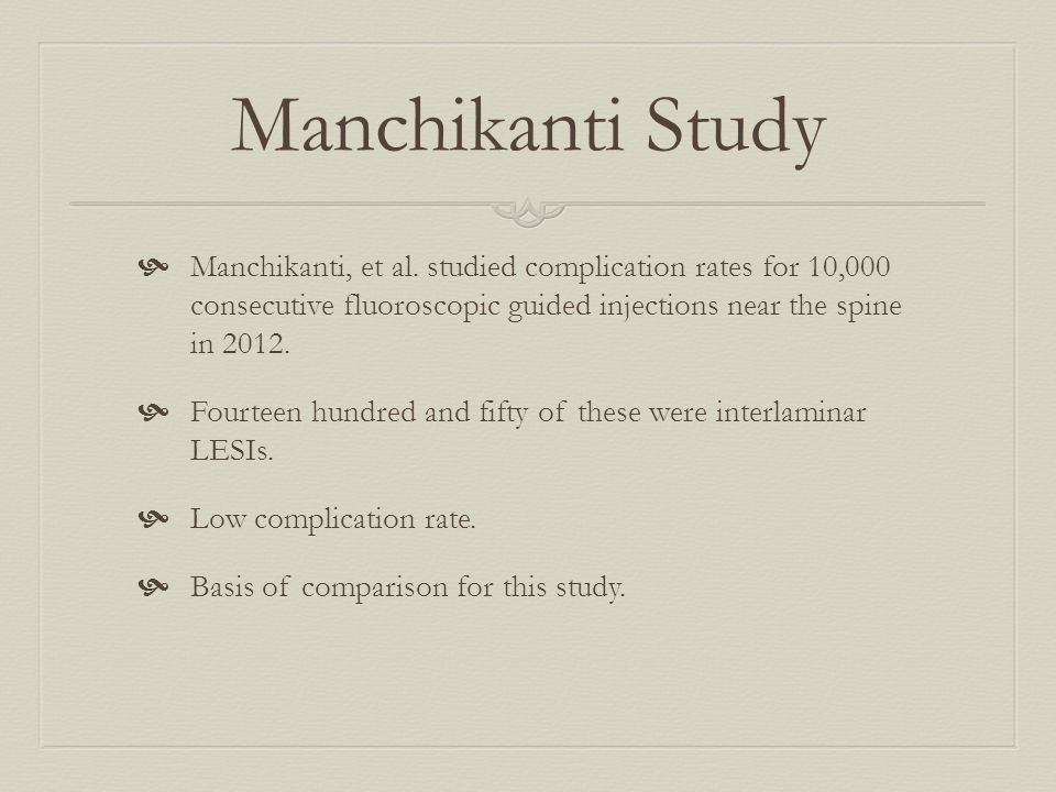 Manchikanti Study  Manchikanti, et al.