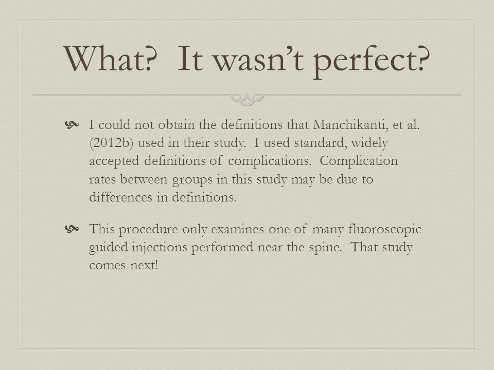 What. It wasn't perfect.  I could not obtain the definitions that Manchikanti, et al.