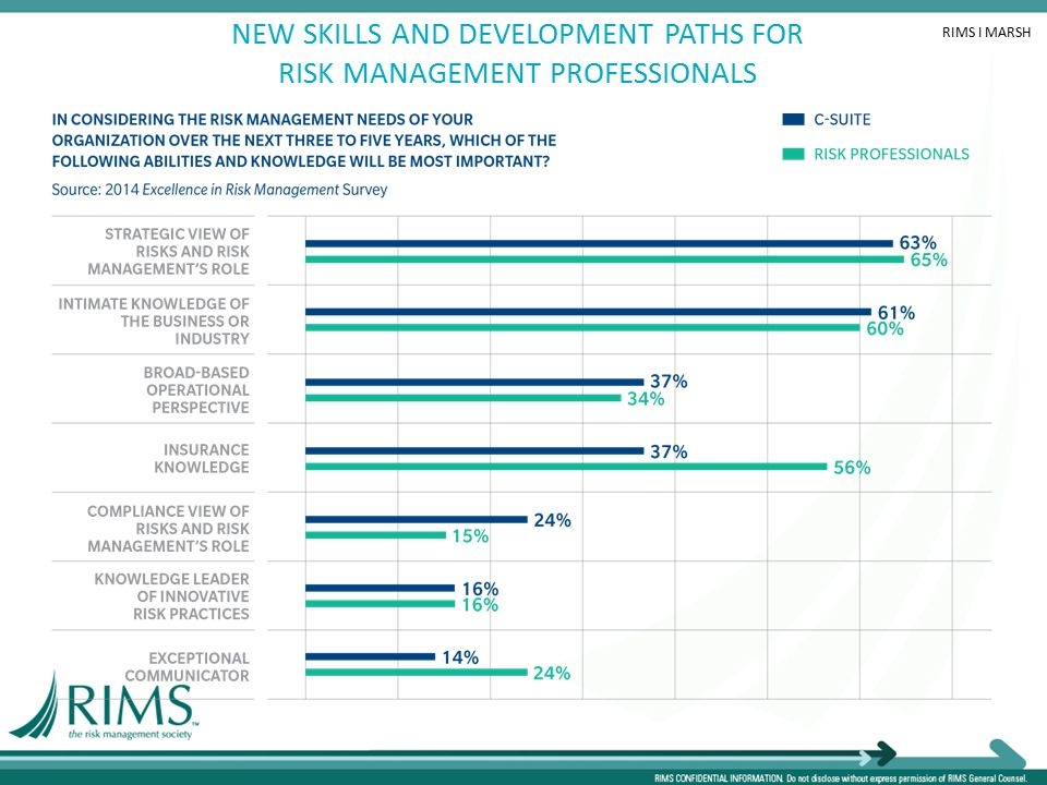 NEW SKILLS AND DEVELOPMENT PATHS FOR RISK MANAGEMENT PROFESSIONALS RIMS I MARSH