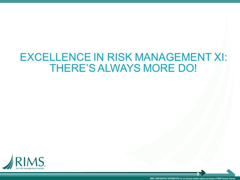 EXCELLENCE IN RISK MANAGEMENT XI: THERE'S ALWAYS MORE DO!