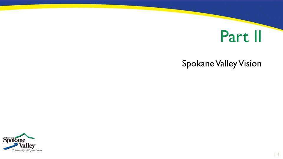 14 Spokane Valley Vision
