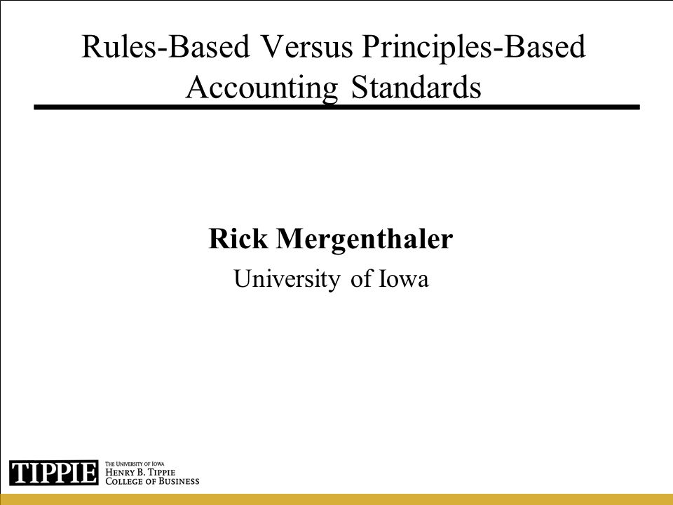 Motivation  Accounting Scandals (e.g., Enron)  Congress asks the SEC to examine implications of adopting more principles-based standards in the U.S.