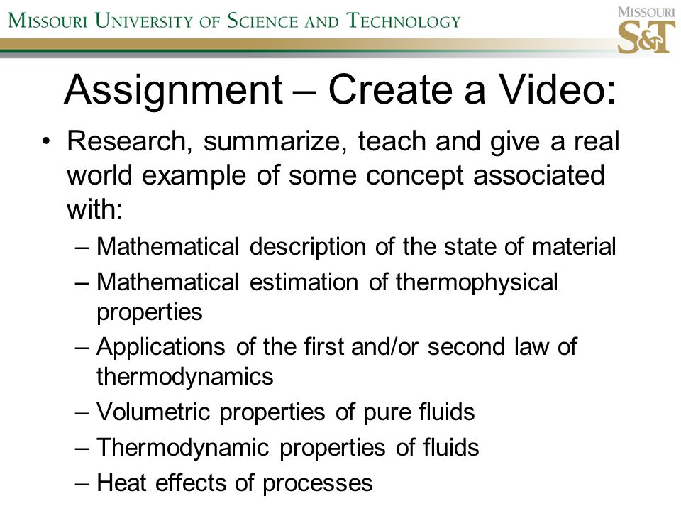 Survey Results How could this video project assignment be improved? –A few more guidelines – suggested resources –Set minimum time and also lower maximum time (9 – 10 minute videos seemed too long) –Wanted available on Blackboard (even though none had been produced yet) –Allow all class to grade each video –Numerous responses – noting that it was a fun and great assignment