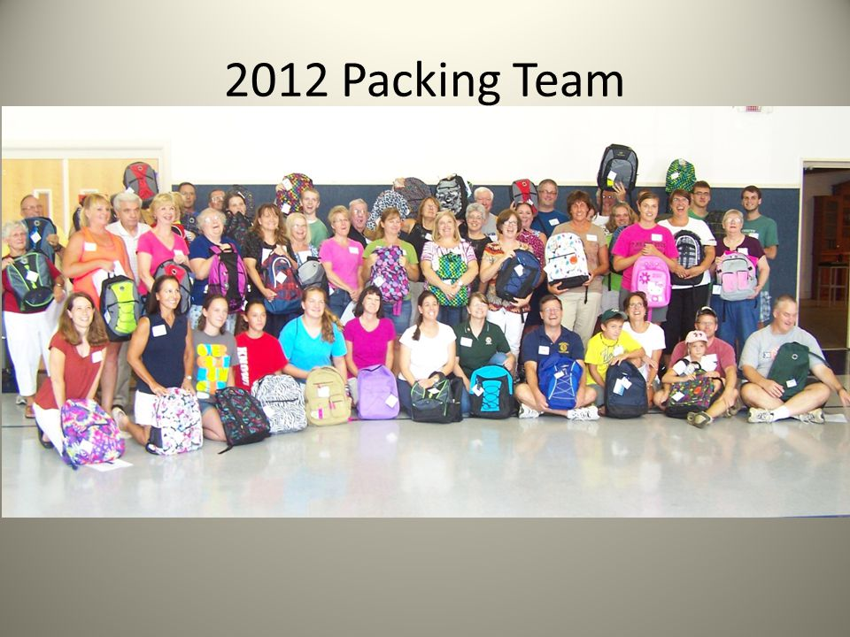 2012 Packing Team