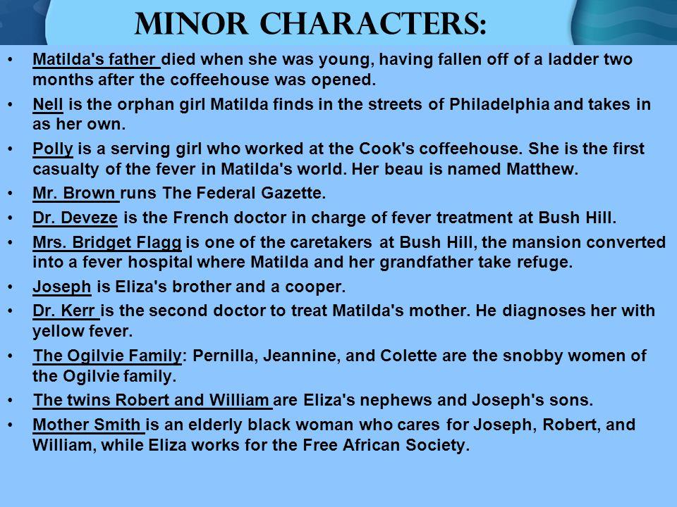 Major CharactersMinor Characters Schooled Character Classification