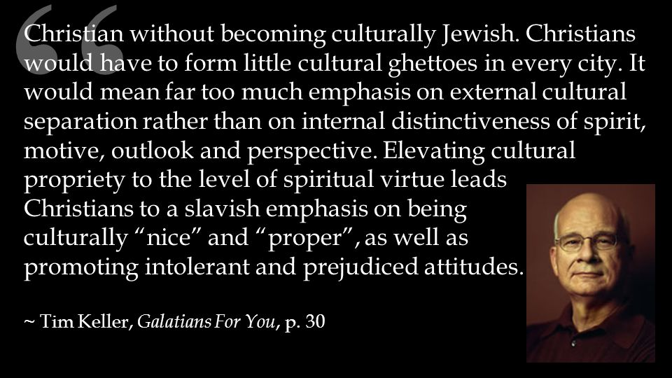 Christian without becoming culturally Jewish.