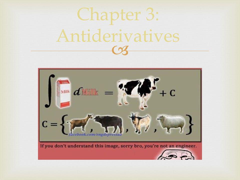  Chapter 3: Antiderivatives