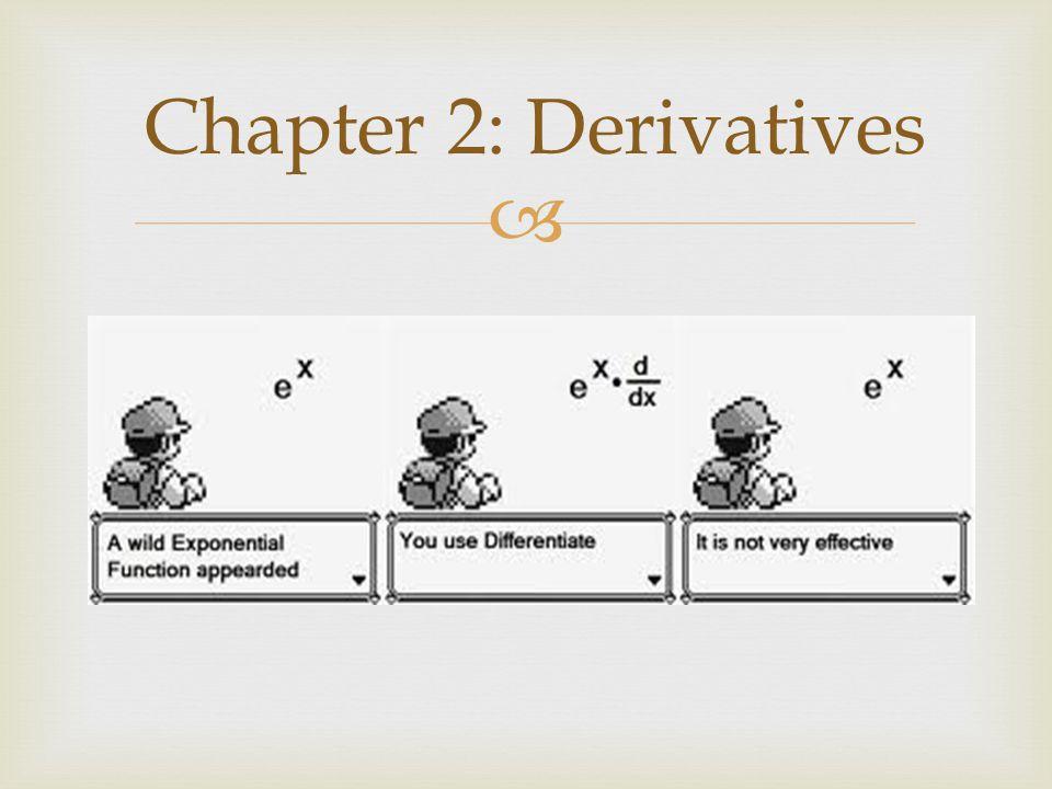  Chapter 2: Derivatives