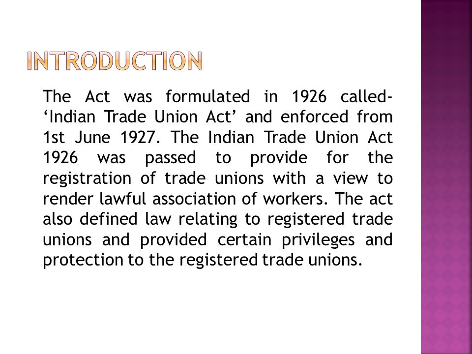  Any person who, with intent to deceive, gives to any member of a registered Trade Union or to any person intending or applying to become a member of such Trade Union any document purporting to be a copy of the rules of the Trade Union or of any alterations to the same which he knows, or has reason to believe, is not a correct copy of such rules or alterations as are for the time being in force, or any person who, with the like intent, gives a copy of any rules of an unregistered Trade Union to any person on the pretence that such rules are the rules of a registered Trade Union, shall be punishable with fine which may extend to two hundred rupees.