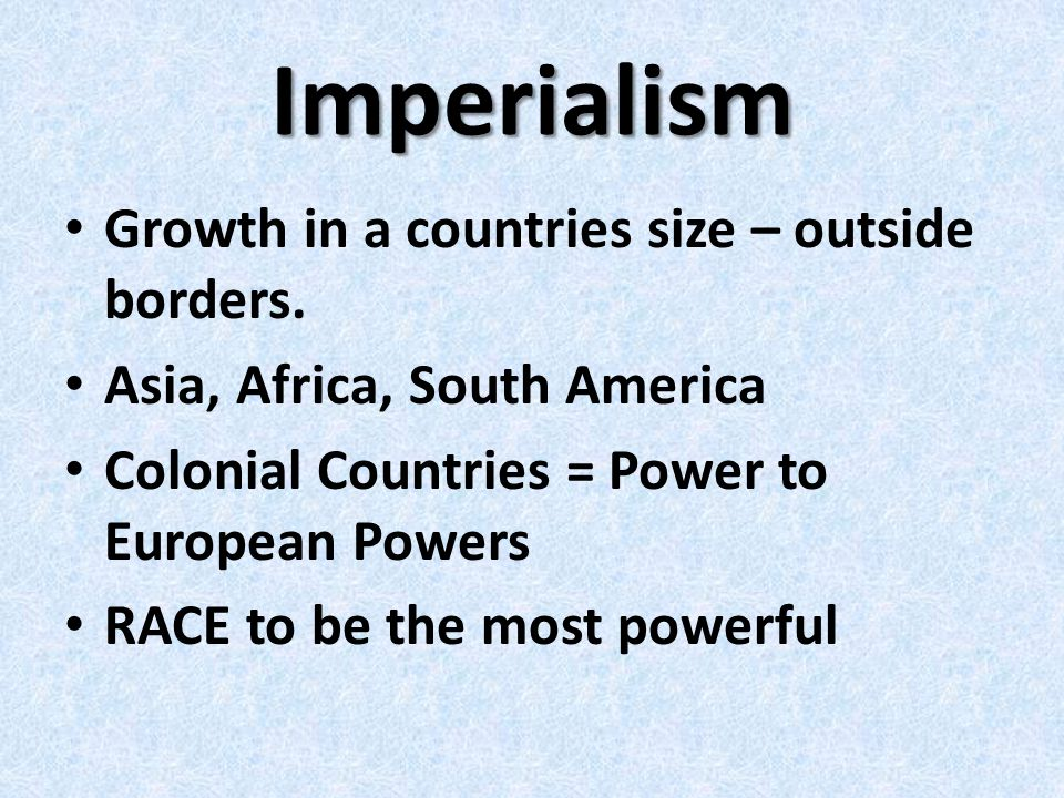 Nationalism European populations devoted to the interests of their own nations.