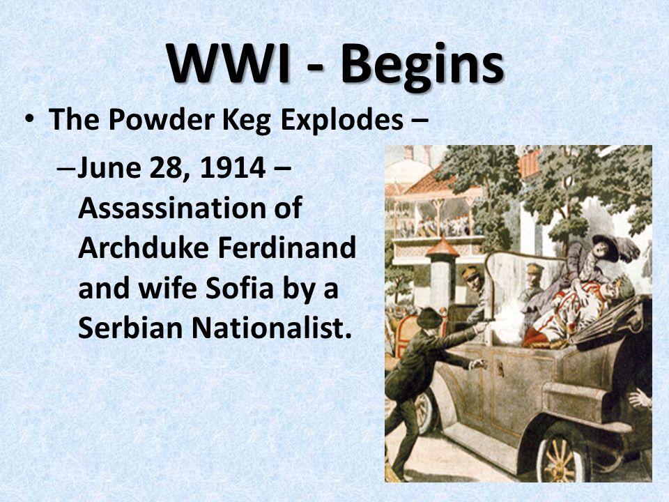 Austro – Hungarian Empire Attempted to control the Balkan Region Annexed the region of Bosinia- Herzegoveina in 1908.