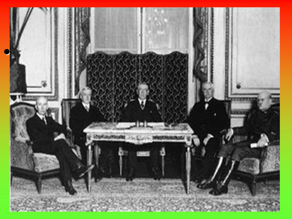 """Treaty of Versailles June 28, 1919 – The """"Big Four"""" leaders met with the leaders of the defeated nations to sign the peace treaty at VersaillesJune 28"""