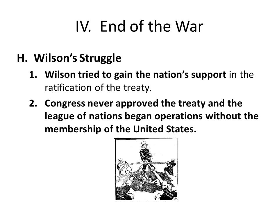 IV. End of the War H.