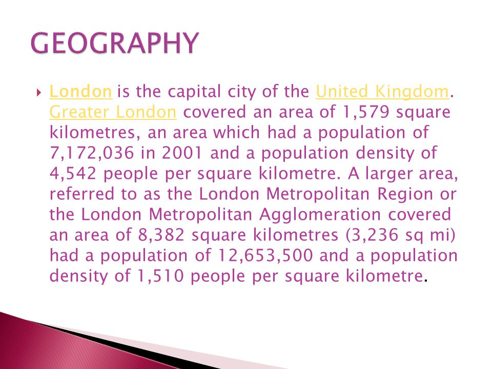  London is the capital city of the United Kingdom.