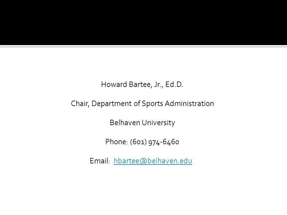 Howard Bartee, Jr., Ed.D.